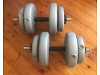 YORK DUMBBELL FREE WEIGHTS 2 x 15KG