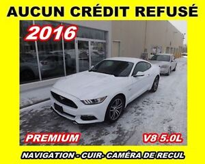 2016 Ford Mustang **GT**V8 5.0L**Premium**Navigation,Cuir.Mags**