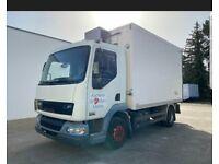 Left hand drive refrigerated mid truck DAF 7.5 tonne LHD EU version