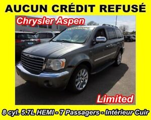 2007 Chrysler Aspen LIMITED**7 PASSAGERS**CUIR**4X4**8 CYL. 5.7L