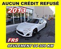 2013 Scion FR-S AUCUN CRÉDIT REFUSÉ**SEULEMENT 34 309 KM*