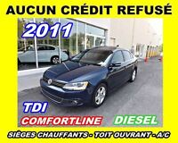 2011 Volkswagen Jetta **TDI**Toit ouvrant, Mags**Aucun Credit Re