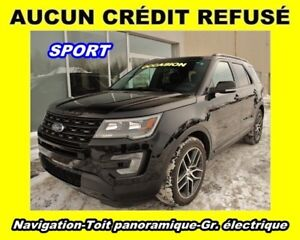 2016 Ford Explorer SPORT 4X4 TOIT PANO. 7 PASSAGERS *NAVIGATION*