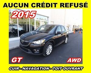 2015 Mazda CX-5 **GT**AWD**Cuir,GPS,Toit ouvrant,Mags**