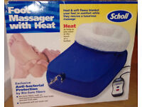 scholl foot massager with heat in box with instructions for sale in liverpool