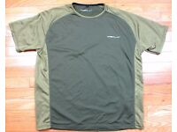 Brand new medium Shimano Tribal Olive green t shirt and long sleeved shirt. Superb quality clothing.