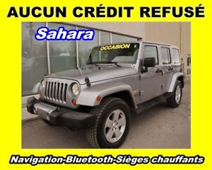 2013 Jeep WRANGLER UNLIMITED SAHARA 4X4 BLUETOOTH SIÈGES CHAUFF
