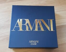 Armani Code Homme EDT Aftershave Gift Set spray shower gel hoodie bag watch polo t shirt trianers fa