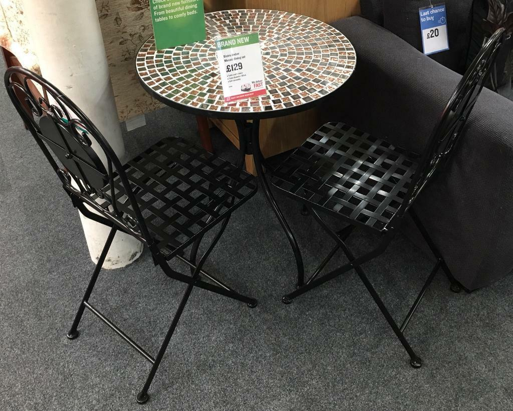 Bistro Amber Mosaic Dining Set In Leicester Leicestershire Gumtree