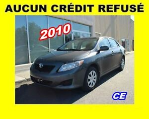 2010 Toyota Corolla EXCELLENTE CONDITION *PROGRAMME 100% APPROUV