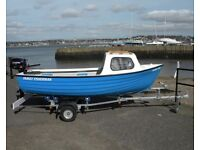 FAMILY FISHERMAN PACKAGE NEW -BOAT ENGINE AND TRAILER COMPLETE SEE IT AT SBS