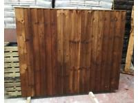 🦋 Various Sizes Of Heavy Duty Tanalised Brown Straight Top Wooden Garden Fence Panels