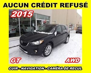 2015 Mazda CX-5 **GT**AWD**Cuir, GPS, Toit ouvrant, Mags**