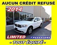 2014 Dodge Durango AUCUN CRÉDIT REFUSÉ**Limited**DVD,Nav,Cuir**