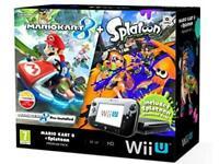 Nintendo Wii U 32GB Mario Kart 8 And Splatoon