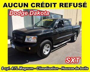 2008 Dodge Dakota SXT**8 CYL. 4.7L**4X4**CAB MULTIPLACES**