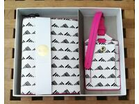 NEW Fossil Brenna Leather Passport Case and Luggage Tag Gift Set – White / Black