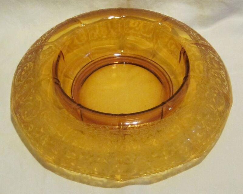 Cambridge #725 Amber Console Bowl