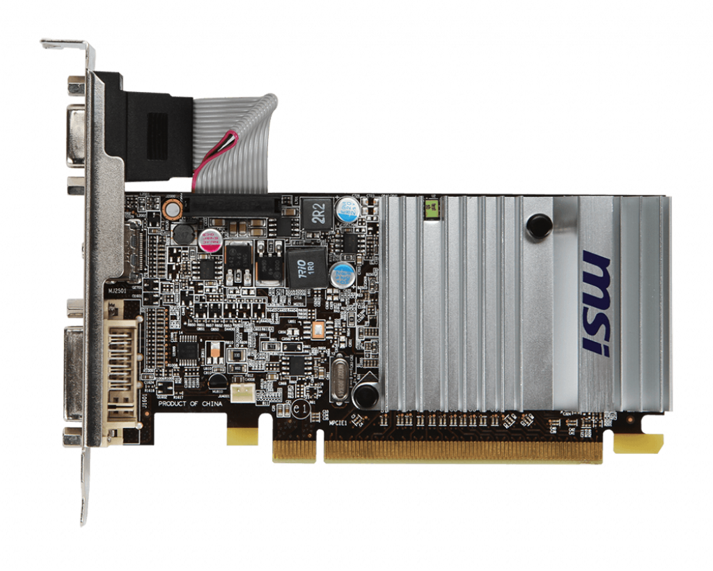 Grafikkarte PCI-Express 2.1 x16 512MB HDMI DVI VGA MSI Radeon HD5450 passiv