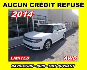 2014 Ford Flex ***Limited**AWD,Navigation,Cuir,Toit panoramqiue*