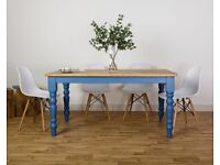 Chunky Dining Table All Size/Colours Modern Farmhouse Oak Kitchen