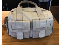 Storksak baby bag leather in beige