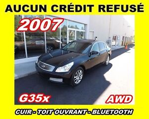 2007 Infiniti G35X AWD*cuir,toit ouvrant,MAGS*