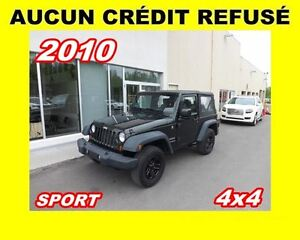 2010 Jeep Wrangler **AUCUN CREDIT REFUSE**