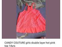 Candy couture @Matalan hot pink top 14yrs