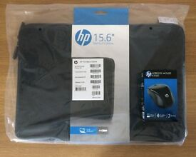 """hp 15.6"""" Laptop Sleeve with Wireless Mouse, new and unused"""