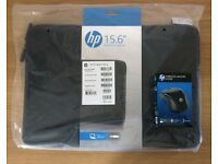 "hp 15.6"" Laptop Sleeve with Wireless Mouse, new and unused"