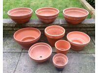 X 9 Garden / Plant pots for sale!