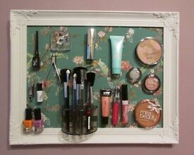 Vintage Style cosmetics wall magnetic frame, makeup, tidy, storage, decor, women girl present