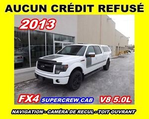 2013 Ford F-150 **FX4**V8**4X4**Navigation,Toit ouvrant,SuperCre