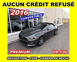 2016 Ford Mustang **GT**V8 5.0L**Premium**Navigation,Cuir,Mags**