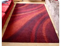 Large Red Finsbury Rug 160x230cm