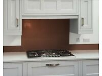Glass cooker splashback, red/burgundy. New.
