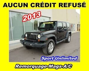 2013 Jeep WRANGLER UNLIMITED * 2 TOITS * JAMAIS ACCIDENTÉ