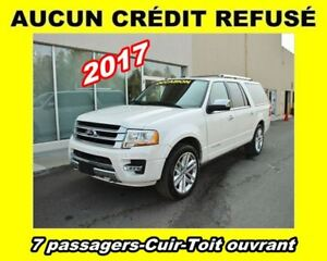 2017 Ford Expedition Max **Platinum**7 passagers**Cuir**Toit ouv