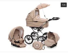 Baby Fashion Scarlett Retro Baby Pram and Pushchair 2in1 -