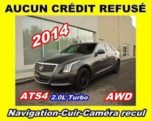 2014 Cadillac ATS **AWD, Cuir, Toit ouvrant, Navigation