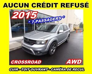 2015 Dodge Journey Crossroad*7passagers*Cuir,Toit ouvrant