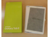 Samsung Galaxy Tab E (8GB White) used twice. Immaculate + Box, Charger