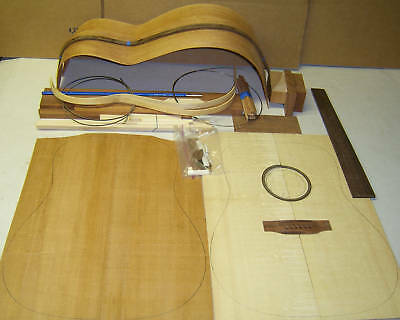 DIY Acoustic Handcraft Custom GUITAR KIT-Dreadnought or OM-All solid -
