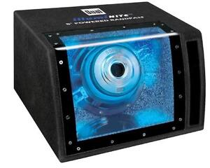 Dual SBP8A 8-Inch 160W Single Amplified Bandpass Subwoofer with Enclosure