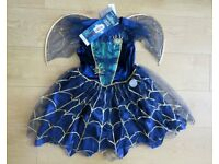 Brand New Dress Costume Witch Halloween Light Up 9-10 years