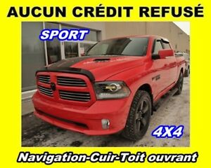 2016 Ram 1500 SPORT 4X4 CUIR TOIT OUVRANT *NAVIGATION*