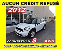 2012 MINI Cooper S Countryman AWD*cuir,toit ouvrant,a/c*
