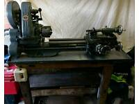 Myford ML7 Lathe with tray bench and lots of accessories