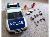 Playmobil Police Car with flashing lights